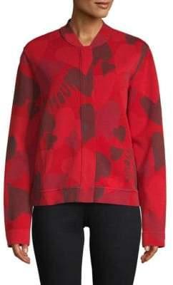 Valentino Heart-Print Jersey Jacket