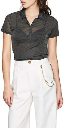 Rag & Bone Women's Dawson Metallic Polo Shirt
