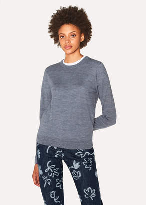 Paul Smith Women's Grey Marl Merino Wool Sweater