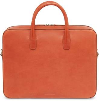 Mansur Gavriel Vegetable Tanned Briefcase - Brandy