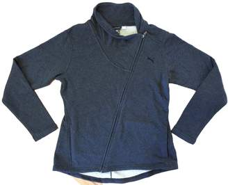 Puma Masked Brand Ladies' Asymmetrical French Terry Jacket - Dark Gray Heather