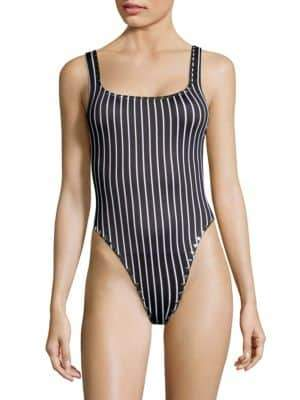 Same Swim Goddess One-Piece Striped Swimsuit