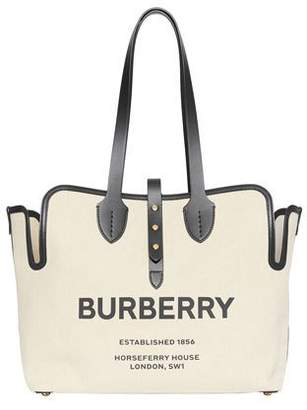 Burberry Medium Soft Belted Canvas Tote Bag