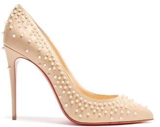 Christian Louboutin Escarpic 100 embellished leather pumps