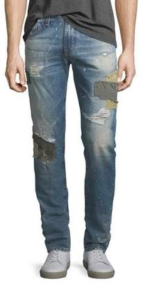 AG Jeans Tellis Patched Distressed Jeans