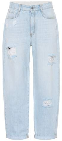 Stella McCartney Distressed boyfriend jeans