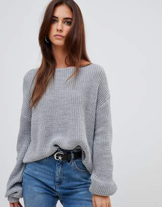 Missguided off shoulder knitted sweater