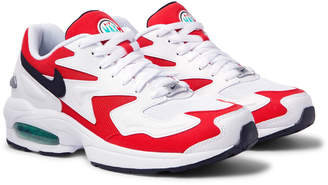 Nike Air Max2 Light Leather and Mesh Sneakers - Men - Red