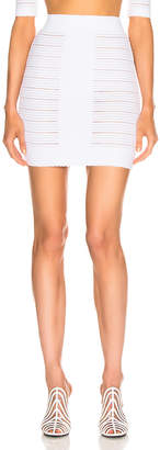 Balmain High Waisted Medical Stripe Skirt in Blanc Optique | FWRD