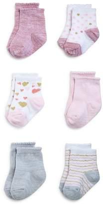 Aden and Anais Girls' 6-Pair Heartbreaker Socks Set - Baby