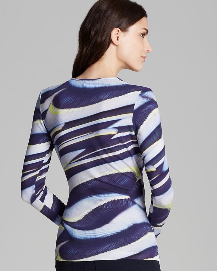 Escada Top - Faux Wrap Printed Jersey