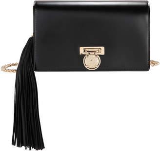 Balmain Side Tassel Leather Pochette Clutch Bag