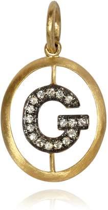 Annoushka Yellow Gold and Diamond Initial G Pendant