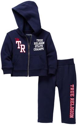 True Religion Active Hoodie & Sweatpant 2-Piece Set (Baby Boys) $79 thestylecure.com