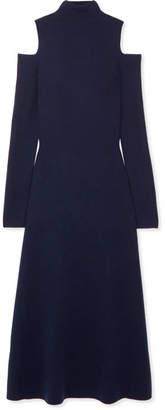 Gabriela Hearst - Silveira Cold-shoulder Wool-blend Midi Dress - Navy