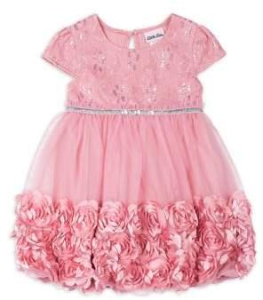 Little Lass Little Girl's Rosette Dress
