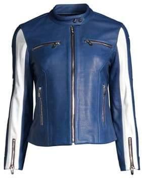 Verno Stripe Moto Jacket
