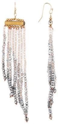 Panacea Two-Tone Crystal Fringe Earrings