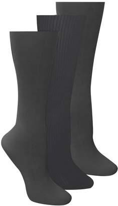 Izabella MUK LUKS 3-Pair Microfiber Trouser Socks