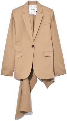 Monse Flare Back Jacket in Khaki