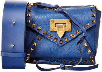 Valentino Rockstud Hype Mini Leather Shoulder Bag