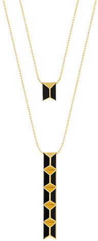 Trina Turk Bar Pendant Double Necklace