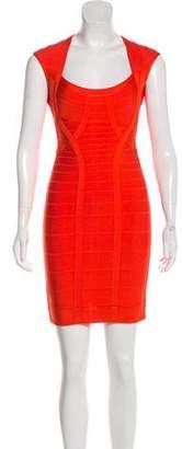 Herve Leger Mini Bodycon Dress