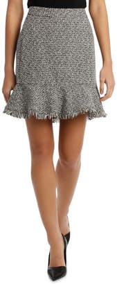 Miss Shop Peplum Tweed Skirt