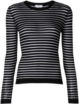 Fendi striped fitted sweater