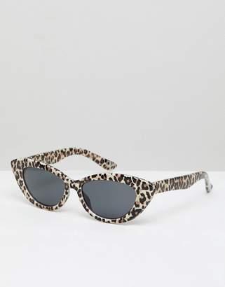 Cat Eye Asos Design ASOS DESIGN pointy in leopard