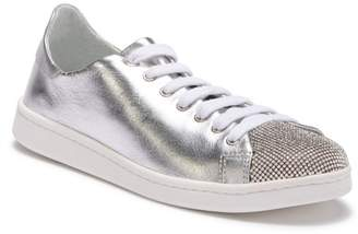 Schutz Bena Rhinestone Leather Sneaker