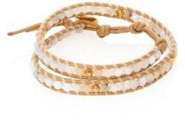Chan LuuChan Luu Opal & Mother Of Pearl Wrap Bracelet