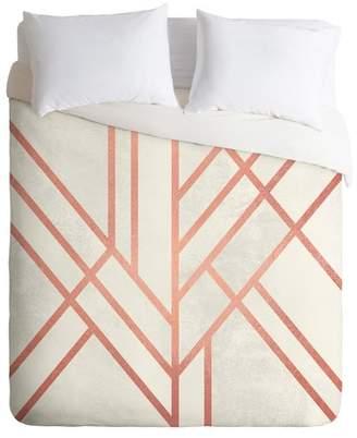 Deny Designs Elisabeth Fredriksson Art Deco Rose Duvet Cover Set (Queen