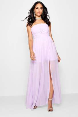 boohoo Boutique Chiffon Bandeau Maxi Dress