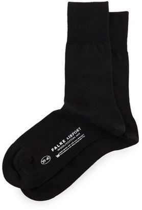 Falke Airport Wool-Blend Socks, Navy $28 thestylecure.com