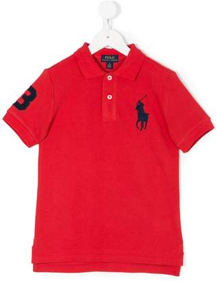 Ralph Lauren Kids number 3 logo polo shirt