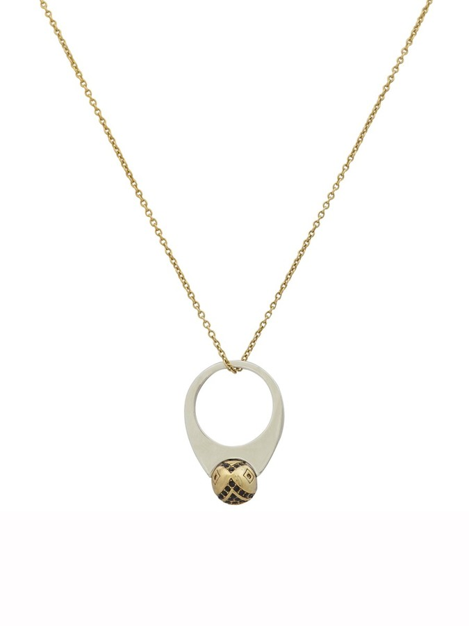 House Of Harlow Engraved Orb Pendant Necklace