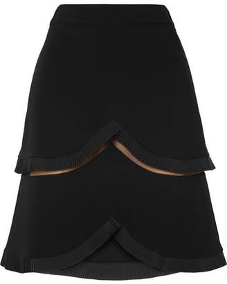 Stella McCartney Tiered Tulle-trimmed Cady Skirt - Black
