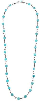 Lucky Brand Turquoise Hammered Coin Necklace Necklace
