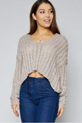 Sadie & Sage Deep V Sweater