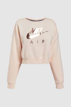 Next Womens Nike Pink Air Cropped Crew
