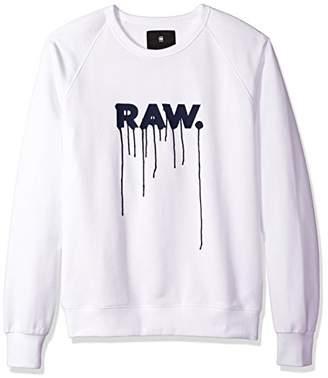 G Star Men's Daefon Raglan Roundneck Sweater Long Sleeve