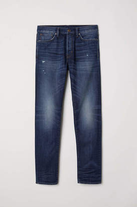 H&M Slim Straight Jeans - Dark denim blue - Men