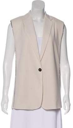 Brunello Cucinelli Metallic Trim Vest