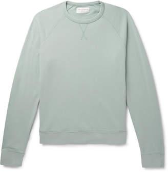 Officine Generale Loopback Cotton-Terry Sweatshirt - Men - Green
