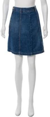 Closed Knee-Length Denim Skirt w/ Tags