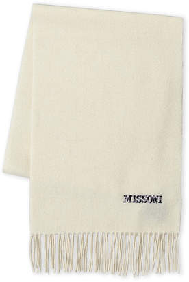 Missoni Embroidered Logo Wool Scarf