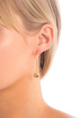 Rivka Friedman 18k Gold Orange Citrine Drop Hook Earrings