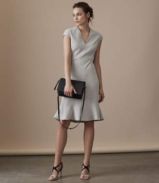 Reiss HAVEN DRESS TAILORED MIDI DRESS Grey