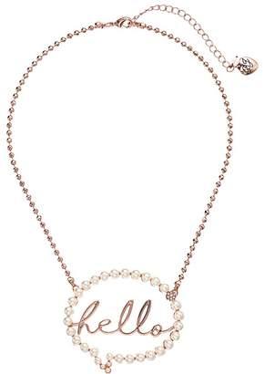 Betsey Johnson Hello Bubble Pendant Necklace Necklace